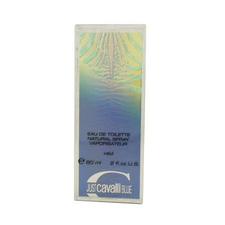 JUST CAVALLI BLUE 2.0 oz. EDT SPRAY MEN'S COLOGNE NEW ROBERTO CAVALLI TESTER (Roberto Cavalli Sonnenbrille 2014)