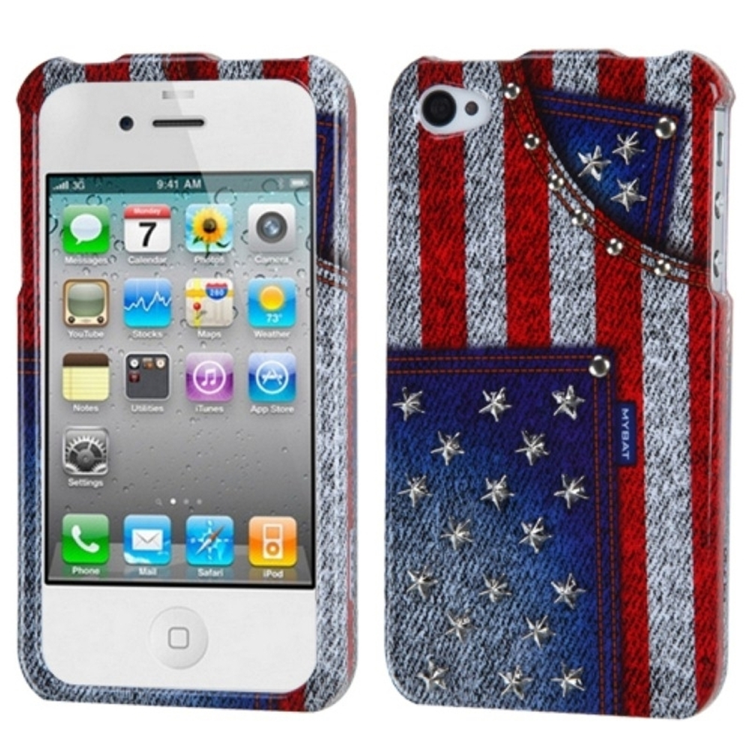 f13c1a26762e0f Insten American-Jeans Snap-On Phone Cover Hard Case Skin For Apple iPhone 4  4S