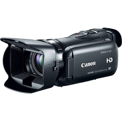"Canon VIXIA HF G20 Black Digital Camcorder with 3.5"" Touchscreen LCD HD CMOS"