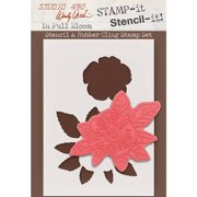 Wendy Vecchi Studio 490 Stamp It Stencil It-In Full Bloom
