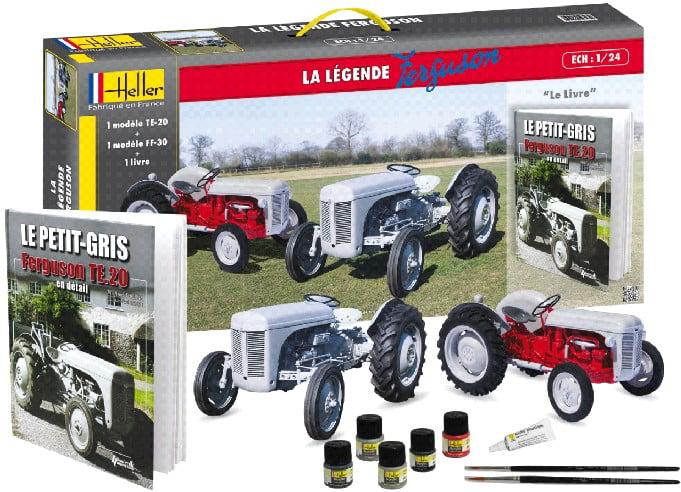 1 24 Ferguson TS20 & FF30 Farm Tractors w Paint, Glue & Ferguson History Book-French (60th Anniversary Ltd... by
