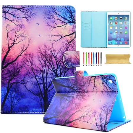 (iPad 2 3 4 Case, Goodest Synthetic Leather Ultra Slim Magnetic Stand Smart Shell Auto Sleep Wake Folio Multi Angle Viewing Pocket Wallet Cover for Apple iPad 2nd/ 3rd/ 4th Gen 9.7 Inch, Forest)