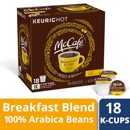 - McCafé Breakfast Blend Coffee K-Cup Pods, 18 count