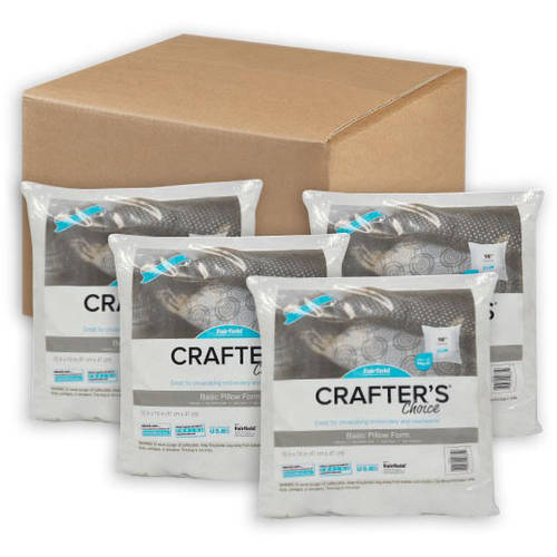 "Fairfield Crafter's Choice 16""x16"" Pillow Insert (Pack of 4)"