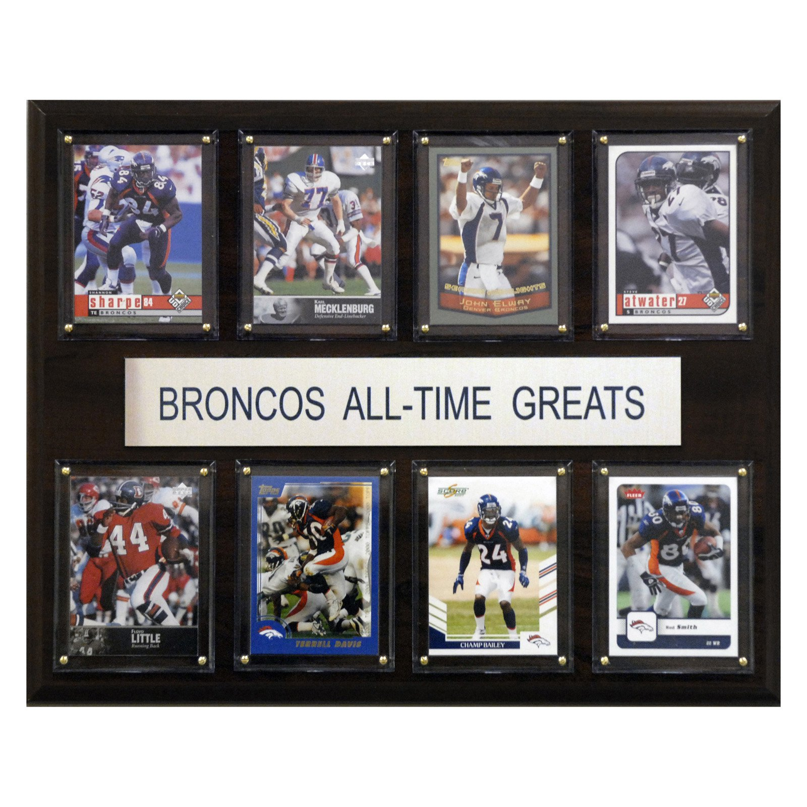 "C & I COLLECTABLES NFL 12""x 15"" Denver Broncos All-Time Greats Plaque"