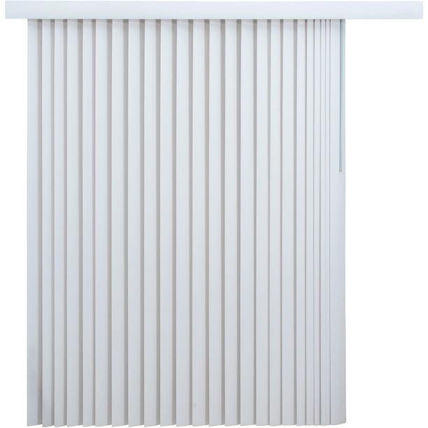 Mainstays Light Filtering Vertical Blinds 78 X 84 White