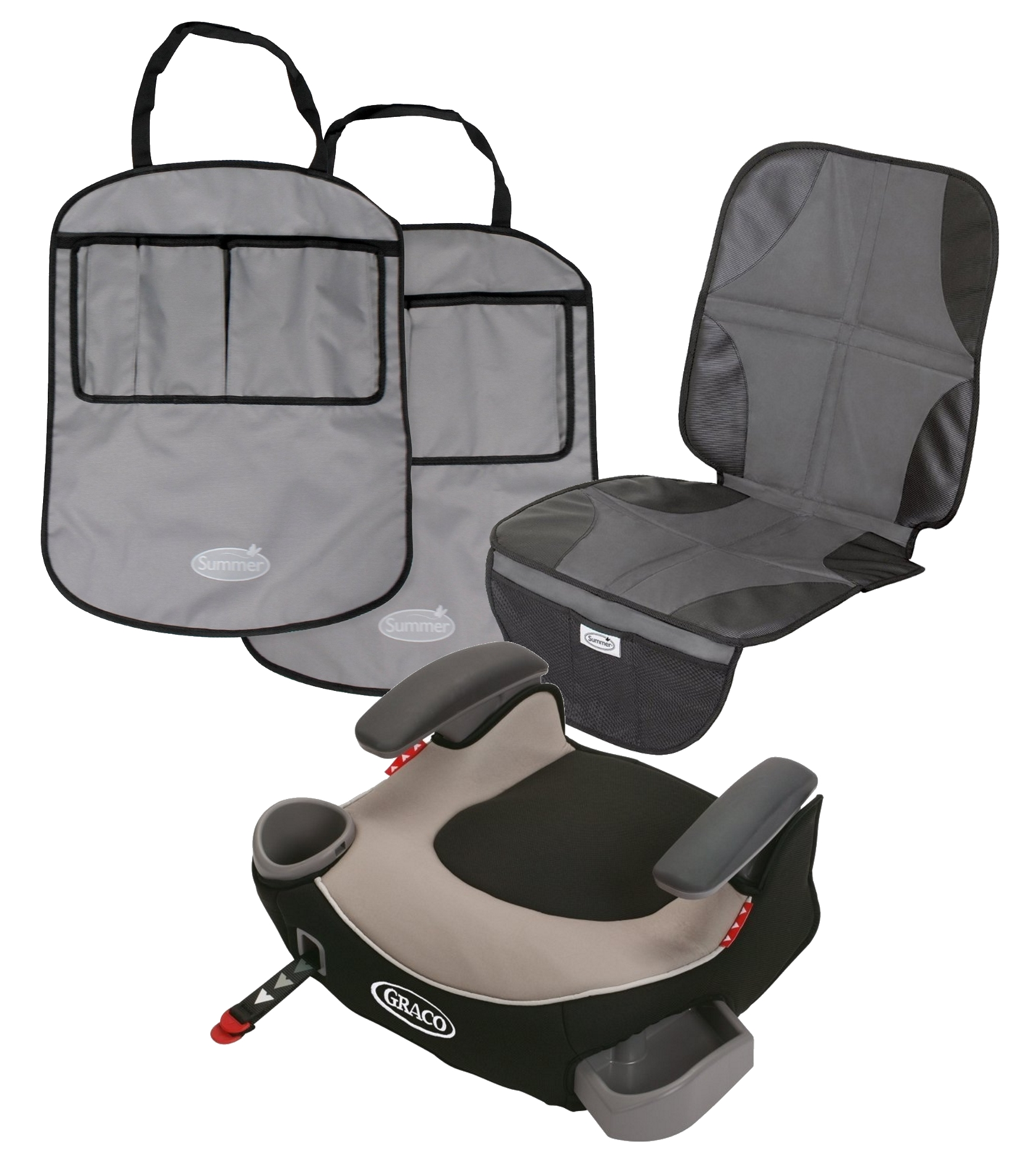 Silla De Carro Para Bebe Afijo de Graco Booster sin respaldo asiento con asiento trasero de coche asiento Protector Mat Kick protectores, Pierce + Graco en Veo y Compro
