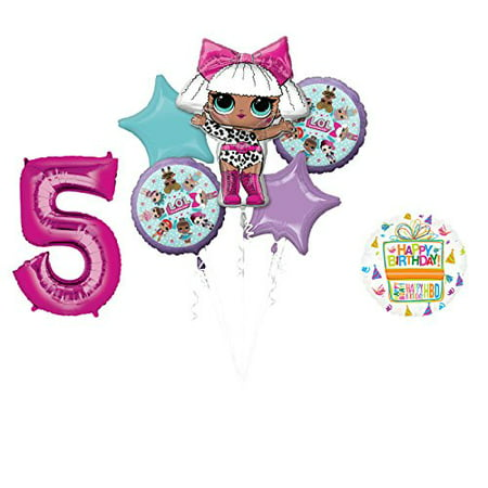 LOL Party Supplies 5th Birthday Balloon Bouquet - Party And Balloon Store