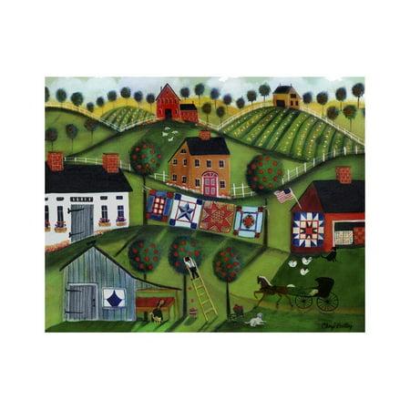Amish Folk Art Quilts Print Wall Art By Cheryl Bartley