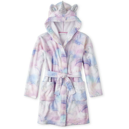 The Children's Place Long sleeve all around tie-dye printed unicorn hooded robe (little girls & big girls) ()