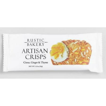 Rustic Bakery Citrus, Ginger And Thyme Crisps Snack Size .7 oz. (Pack of (Ginger Crisp)
