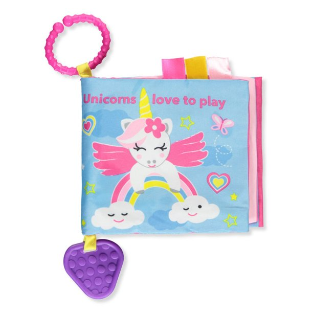 Playtex Baby Girls' Unicorn Book and Teether