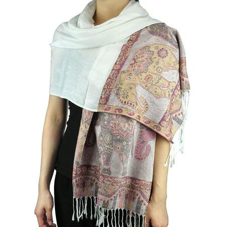 3cc51512a NYFASHION101 Women's Large Soft Embroidered Elephant Scarf Shawl Wrap,  Camel - image 1 ...