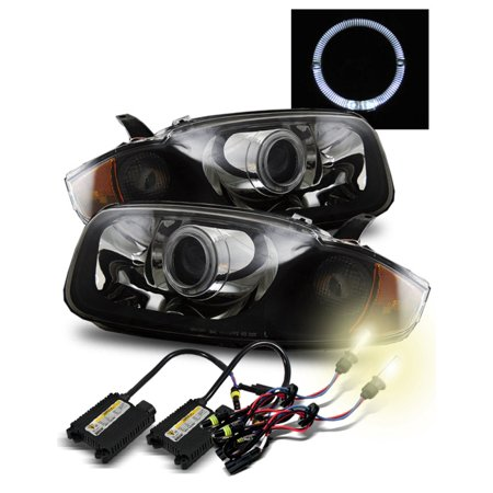 4300K Hid For 03 05 Chevy Cavalier Halo Hi Low Beam Projector Headlights Blk