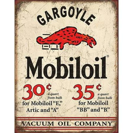 Mobil Gargoyle Distressed Retro Vintage Tin Sign Tin Sign - 12.5x16