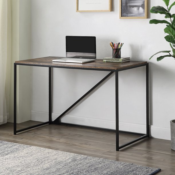 Clearance! Industrial Style Computer Desk, 46-Inch Small Office