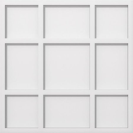 Ekena Millwork CMP20RK 20 in. OD x 7 in. Square Rubik Architectural Grade PVC Contemporary Ceiling Medallion - image 1 of 1