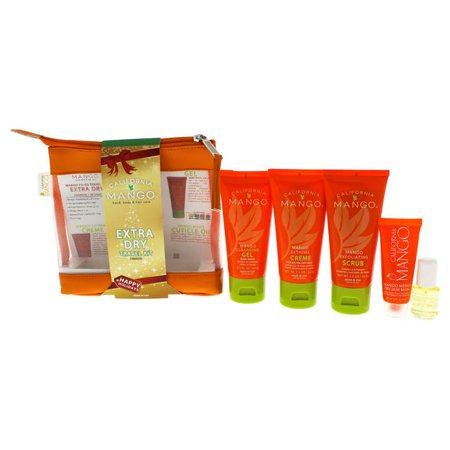 California Mango 6 2.2oz Exfoliating Scrub, 2.2oz Cleansing Gel, 2.2o For Unisex