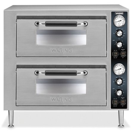 Waring Commercial WPO750 Double Deck Pizza Oven with Dual Door,