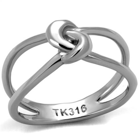HIGH POLISHED SOLID STAINLESS STEEL 316 FASHION KNOT RING WOMEN
