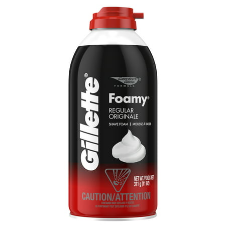 (4 Pack) Gillette Foamy Regular Shaving Foam, 11