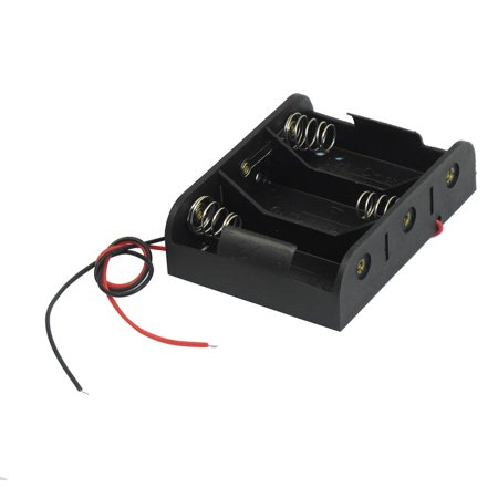 7.9″ Wire Leads Black 3 x 1.5V C Battery Batteries Holder Case