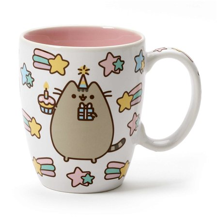 "Name Coffee - Enesco Pusheen by Our Name is Mud ""Celebrate Cupcake"" Stoneware Coffee Mug, Pink, 12 oz."