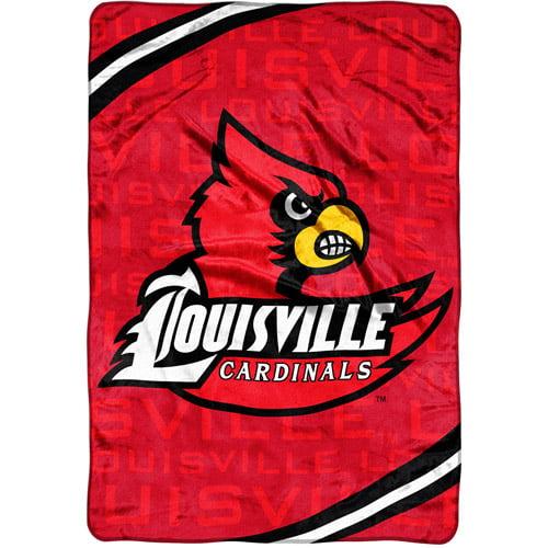 NCAA Louisville Cardinals Micro Raschel Blanket