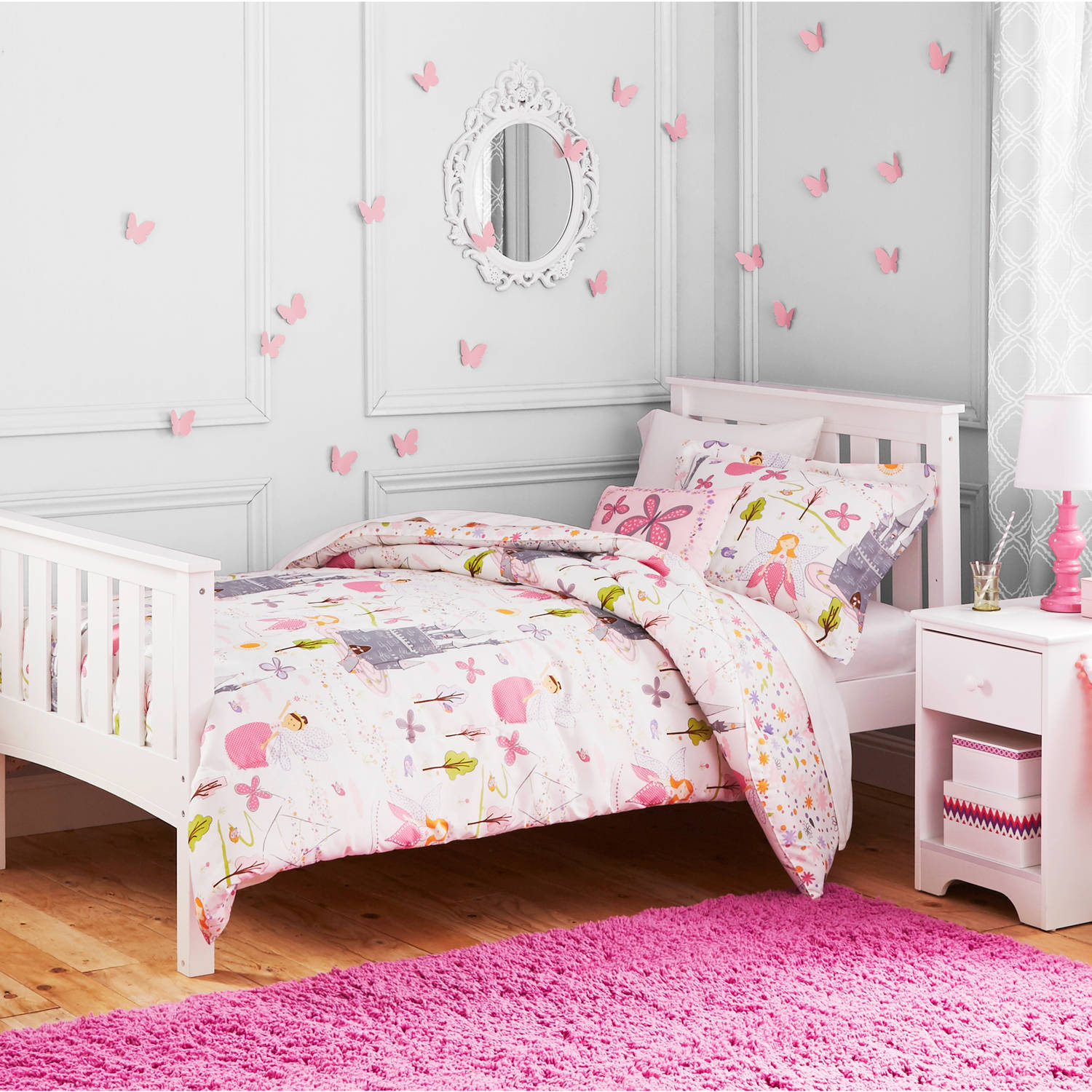 Better Homes And Gardens Kids Twin Size Fairy Princess Comforter Set