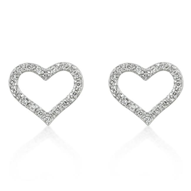 Kate Bissett E01847R-C01 Open Heart CZ Earrings
