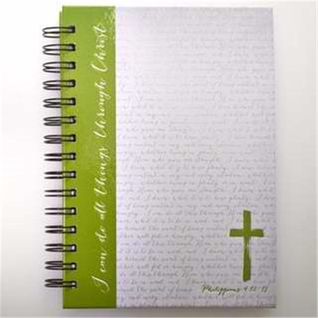 Christian Art Gifts 362169 Journal - Wirebound - Cross & I Can Do All Things - Large