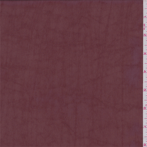 Maroon Brick Polyester Georgette, Fabric By the Yard