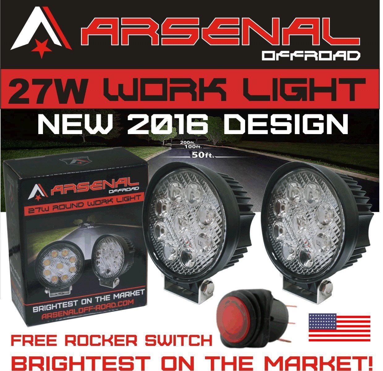 "#1 27w 4"" Round LED Pencil Beam Spot light Arsenal Offroa..."