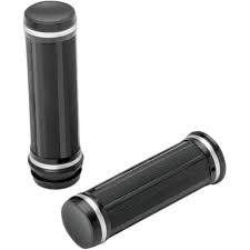 Drag Specialties Razor Grips Except 08-14 Touring Black Fits 84-14 Harley-Davidson All Models
