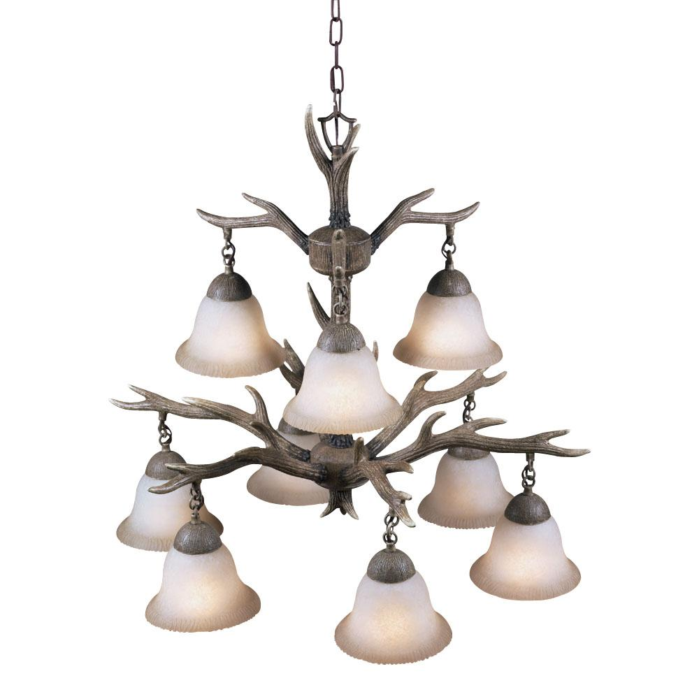 Aztec lighting buckhorn 9 light chandelier walmart arubaitofo Image collections
