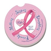 Pink Ribbon Car Coaster