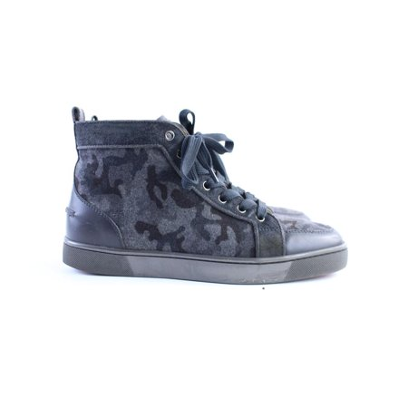Christian Louboutin Camouflage Rantus Flat Sneaker Men's 39.5 High Top 5CLR0315