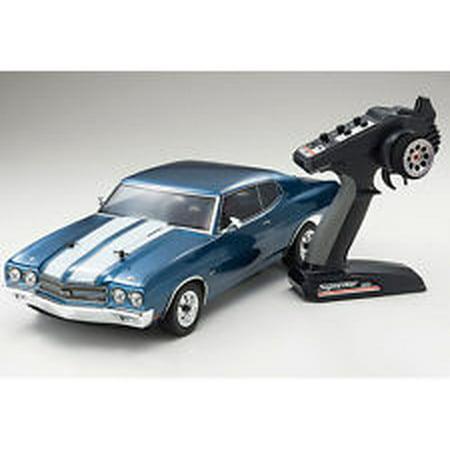 (Kyosho 34053T2 1 10 FAZER Vei Fathom Blue 1970 Chevelle SS 454 LS6 RC Car)