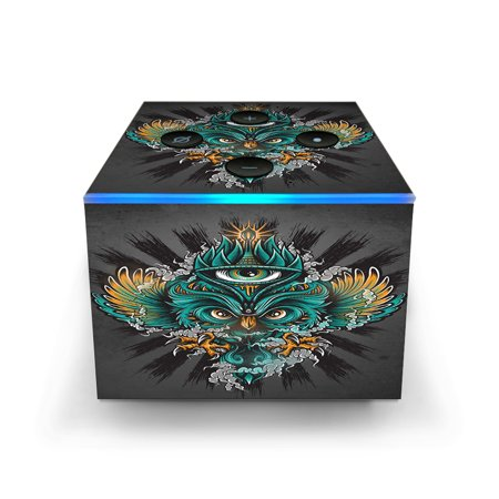 Skins Decals for Amazon Fire TV CUBE + REMOTE / Owl Eye tattoo Art