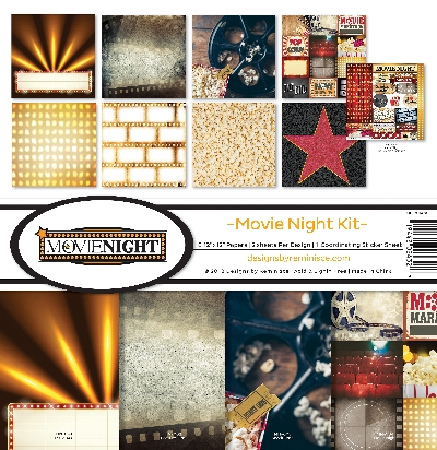 "Reminisce Collection Kit 12""X12""-Movie Night"