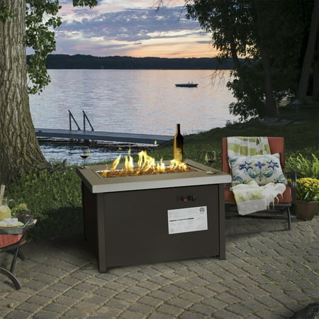 Barton Outdoor Propane Gas Fire Pit Patio Garden Flame Firepit Heater Weather Cover ETL, ANSI Certificated 50,000BTU ()