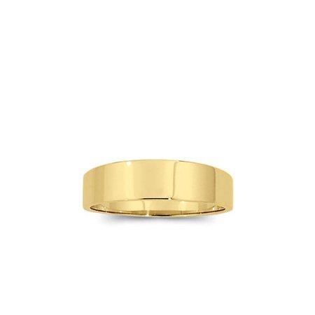 Flat Tapered Wedding Band (5mm Flat Tapered Wedding Band in 10 Karat Yellow Gold )