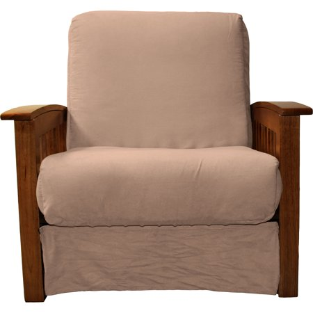 Fine Morris Mission Style Perfect Sit Sleep Pocketed Coil Innerspring Chair Sleeper Child Size Bed Chair Walnut Suede Mocha Brown Dailytribune Chair Design For Home Dailytribuneorg
