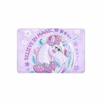 MKHERT Beautiful Unicorn With Roses Doormat Rug Home Decor Floor Mat Bath Mat 23.6x15.7 inch