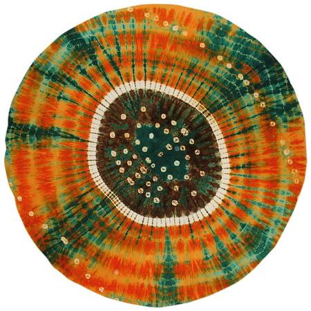 Bandini Tie Dye Round Cotton Tablecloth 72