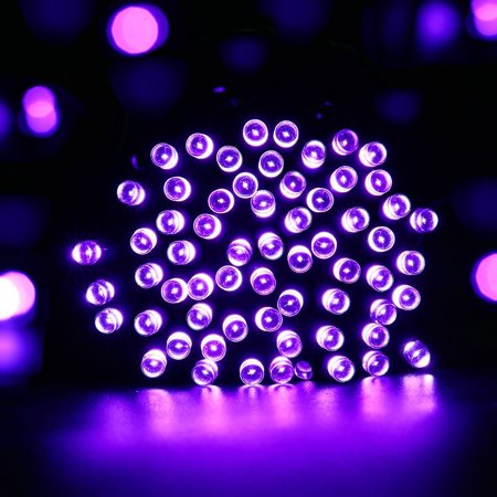 Qedertek Christmas Lights Solar String Lights 72Ft 200 Led Fairy Lights 8 Modes Ambiance Lighting For Outdoor Patio Lawn Landscape Garden Home Wedding  Purple