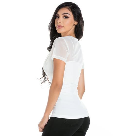 d0e8d131a89a9 Fashion Secrets - Fashion Secrets Women Short Sleeves Sheer Chiffon ...