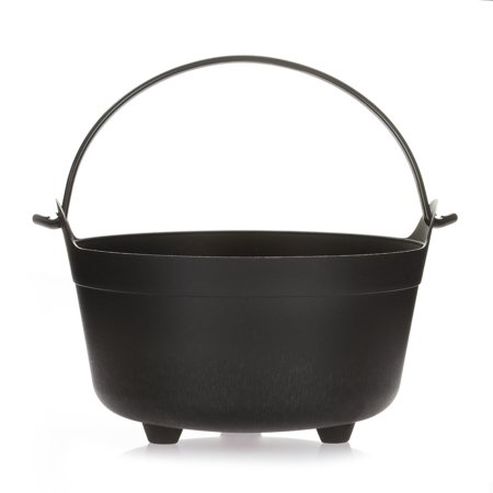 Darice Witchs Cauldron With Handle Plastic Black