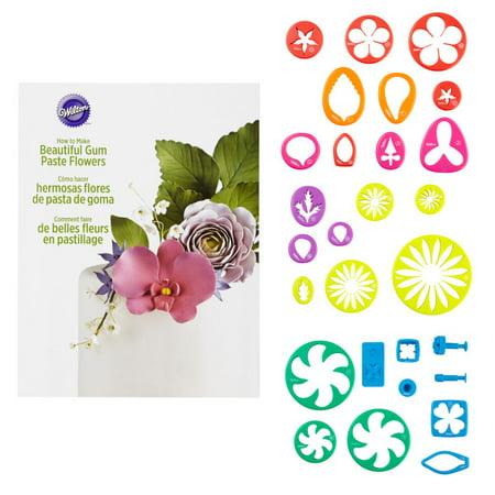 Wilton Gum Paste Flower Cutter Set, 28-Piece (Gum Paste Tool Kit)
