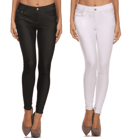 20c7ba91bf3 Pull On Plus Size Jeggings for Women Jegging Jeans Plus Size Fitted Jeggings  - Walmart.com